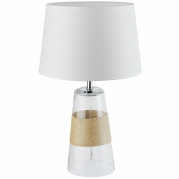 """Globe® Electric 12910 Table Lamp with Clear Glass & Natural Twine Accent, 19.7"""""""