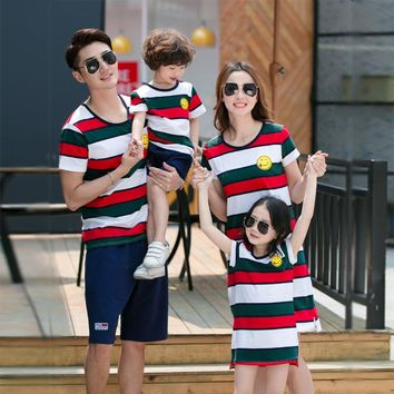 Family Matching Outfits Family Clothing Mother and Daughter Dress Clothes Father and Son Clothes Family Clothing Sets GS23