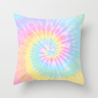 Tie Dye Love Throw Pillow by Pink Berry Pattern