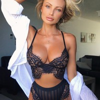 Ebony Sexy Lace Lingerie Set