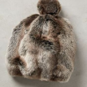 Claudine Faux-Fur Hat by Anthropologie in Brown Size: One Size Accessories