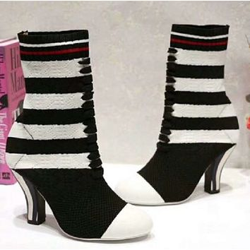 shosouvenir Fendi  Fashion sock shoes (4 colors)
