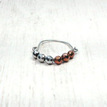 Stackable Ring - Wire Ring - Beaded Ring - Ring For Women - Boho Ring - Simple Ring - Boho Jewelry - Womens Jewelry - Simple Ring