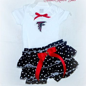 Girls Atlanta Falcons Outfit, Girls Football Outfits, Cheerleader Outfit