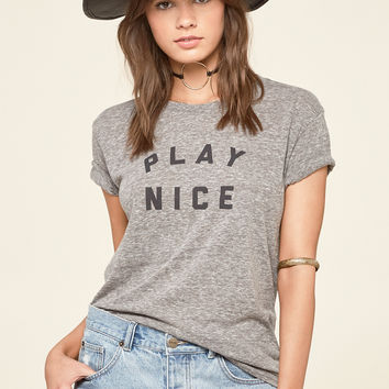 AMUSE SOCIETY - Play Nice Tee | Heather Gray