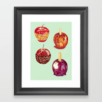 Scrummy on them Toffees Framed Art Print by minniemorrisart