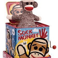Sock Monkey Jack In The Box - Whimsical & Unique Gift Ideas for the Coolest Gift Givers