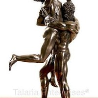 Hercules and Antaeus Statue after Pollaiuolo, Bonded Bronze 10.5H