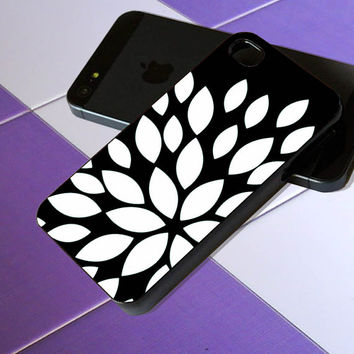 Black Flower Silhouette - iPhone 4 / iPhone 4S / iPhone 5 / Samsung S2 / Samsung S3 / Samsung S4 Case Cover