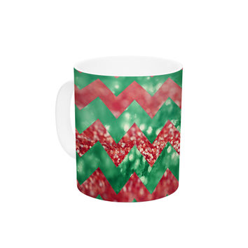 "Beth Engel ""Sparkle"" Chevron Ceramic Coffee Mug"