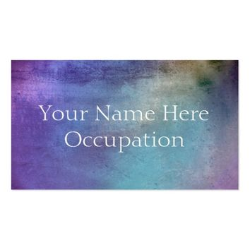 Professional Soft Blue Purple Grunge Business Card
