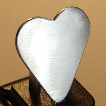 Guitar Pick Heart Handmade from Sterling Silver Customize Me
