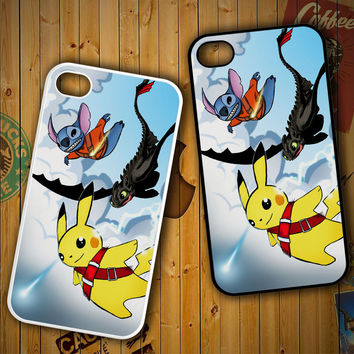 stitch and toothless, pikachu Y1837LG G2 G3, Nexus 4 5, Xperia Z2, iPhone 4S 5S 5C 6 6 Plus, iPod 4 5 Case