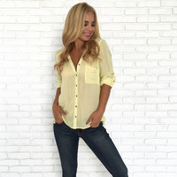 Mellow Day Button Down Blouse