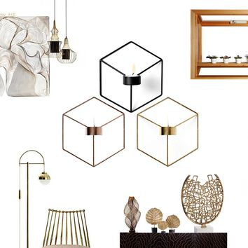3D Geometric Nordic Style Sconce Candlestick Handmade Candle holder