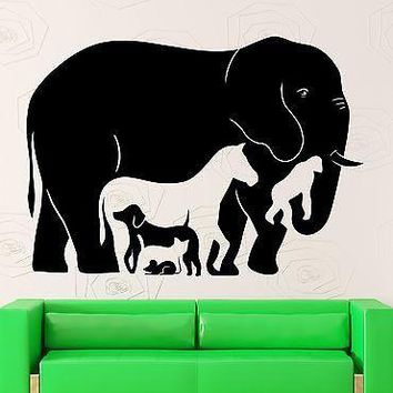 Wall Stickers Animal Elephant Horse Monkey Kids Room Vinyl Decal Unique Gift (ig2499)