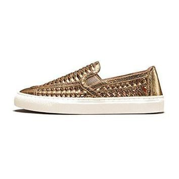 Tory Burch Huarache Metallic Slip-On Sneakers, Gold
