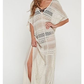 CROCHET LACE KAFTAN - LOVESTITCH