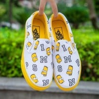 DCCKBWS Trendsetter VANS X Peanuts Simpson Canvas Old Skool Flats Shoes Sneakers Sport Shoes