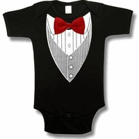 All Occasion Formal Tuxedo Infant Onesuits (Black) #9