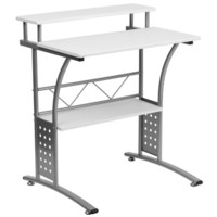 Flash Furniture Clifton White Computer Desk - NAN-CLIFTON-WH-GG