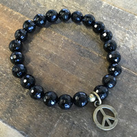 Faceted Onyx 'Soothing' Bracelet
