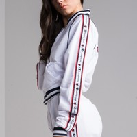 Champion Women's Track Jacket in White