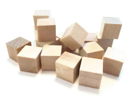 50 wood blocks 1 2 inch blocks wooden from jewelriot on etsy for Wooden blocks craft supplies