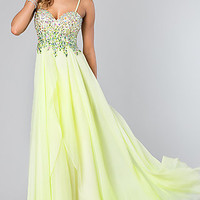 Long Strapless Jewel Embellished Formal Dress by Dave and Johnny