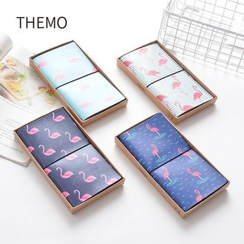 PU Leather Cover Planner Notebook Travel Journal Flamingo Diary Book Exercise Composition Binding Note Notepad Gift Stationery