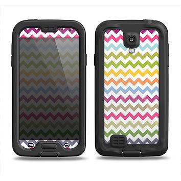 The Colorful Chevron Pattern Samsung Galaxy S4 LifeProof Fre Case Skin Set