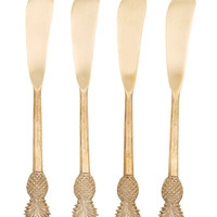Gold Pineapple Spreaders (Set of 4)