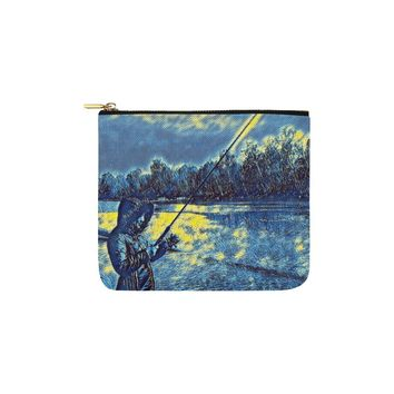 Levi Thang Fishing Design 7 Carry-All Pouch 6''x5''