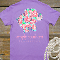 Floral Elephant Tee | Simply Southern