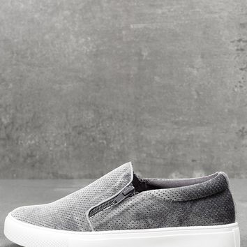 Alma Slate Slip-On Sneakers