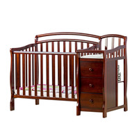 Casco, 4 in 1 Mini Crib and Dressing Table - Cherry