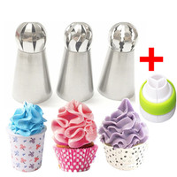3pc/set Russian Piping Nozzle Sphere Ball Stainless Steel Icing Confectionary Pastry Tips Cupcake Decorator Kitchen Bakeware