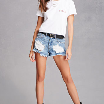 Girls Rule Embroidered Tee