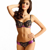Bra brief sets lace embroidery