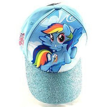 My Little Pony 3D Girls' Baseball Cap Hat - Rainbow Dash