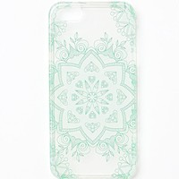 With Love From CA Two-Tone Medallion iPhone 5 Case - Womens Scarves - Teal/White