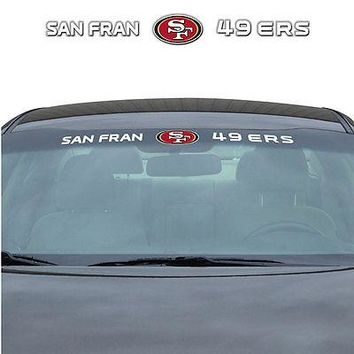 San Francisco 49ers NFL Licensed Auto Car Truck Windshield Decal