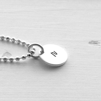 Small r Necklace, Initial Necklace, Sterling Silver Jewelry, Letter r Necklace, All Letters Available, Personalized Necklace, Charm Necklace