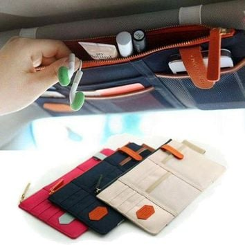 VONEC2O Sun Visor Point Organizer Pouch Bag Pocket Card Storage Holder In-Car IP