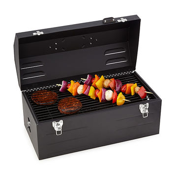 Charcoal Grill Toolbox | Unique Grilling Gifts; Outdoor Grilling