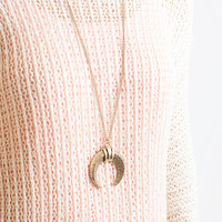 Ram Horn Gold Pendant Necklace