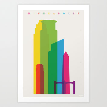 Shapes of Minneapolis Art Print by Yoni Alter