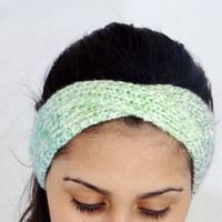SALE Colorful Headband Hand Knitted Head Band Colorful Ear Warmer Accessory Colorful Headband Hair Accessories Colorful Knitted Headband Han
