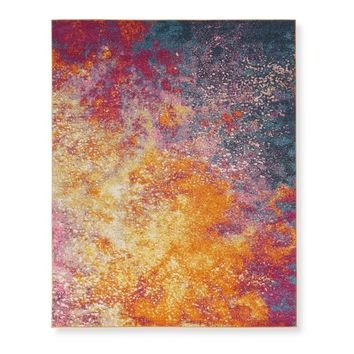 Nourison Passion Sunburst Area Rug - 5'3 x 7' | Overstock.com Shopping - The Best Deals on 5x8 - 6x9 Rugs