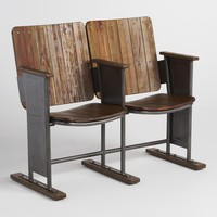 Retro Wood Stadium Seats